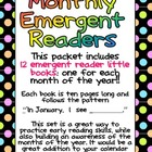 Monthly Emergent Readers Preschool Kindergarten Months of