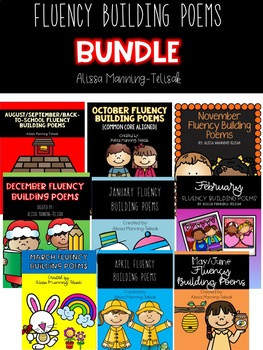 Monthly Fluency Building Poems BUNDLE