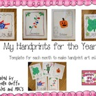 Monthly Handprint Art Template