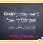 Monthly Independent Reading Calendar/ Reading Homework Log
