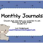 Monthly Journals Covers and Pages