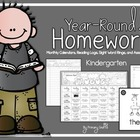 Monthly Kindergarten Homework {November and December}