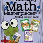 Monthly Math Masterpieces~Spring Edition Pack Of Color By