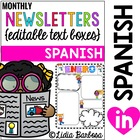 Monthly Newsletters in Spanish with Editable Text Boxes