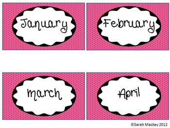 Monthly Polka Dot Labels