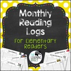 Monthly Reading Logs - Grade 3 &amp; Up
