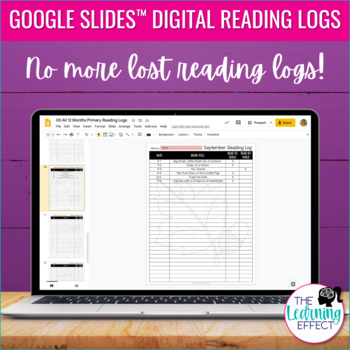 Monthly Reading Logs - Grades 1 & 2