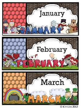 Monthly, Seasonal and Holiday Storage Labels