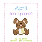 Monthly Ten Frames--April bunny
