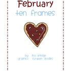 Monthly Ten Frames--February heart cookies