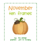 Monthly Ten Frames--November pumpkins