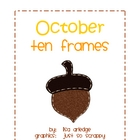 Monthly Ten Frames--October acorns
