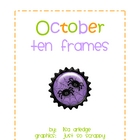 Monthly Ten Frames--October spiders