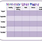 Monthly Unit Plans