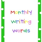 Monthly Writing Word Charts