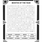 Months of the Year Word Search Puzzle / 2nd Grade / 3rd Grade