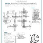 Moon Over Manifest: Synonym/Antonym Vocabulary Crossword--Fun!