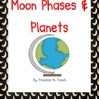 Moon Phases/Planets*Vocabulary Cards*Games*Word Wall Cards