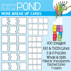 Puzzle Cards Clipart - More Break Up Cards Set