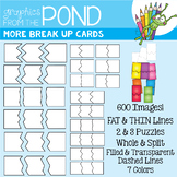 More Break Up Cards Set - Puzzle Cards for Teaching Resources