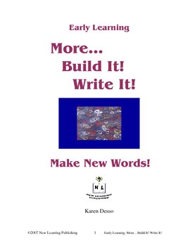 More Build It! Write It!