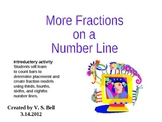 More Fractions on a Number Line PowerPoint