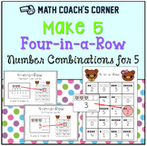 More Making Five-Math Center for Practicing Combinations to 5