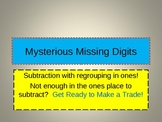 More Missing Digit Work: Subtraction with Regrouping in On