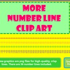 More Number Line Clip Art - 0-50 and 50 unit increments -