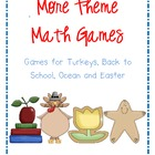 More Theme Math Games Bundle