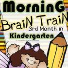 Morning Brain Train - Math & Literacy {Morning Work 3rd mo