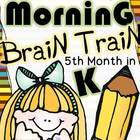 Morning Brain Train - Math & Literacy {Morning Work 5th mo