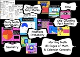 Calendar Math for the Entire Year - SMARTBoard 83 Page Com