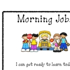 Morning Jobs Classroom Sign