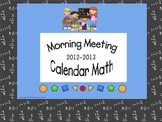 Morning Meeting - Calendar Math 2012-2013