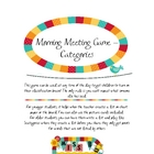 Morning Meeting Games - Categories