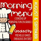 Morning Menu: Cooking Up Morning Fun (Aug. and Sept.)