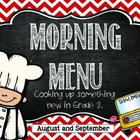 Morning Menu: Cooking Up Something New (Aug. and Sept.)