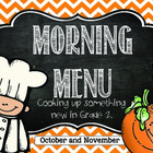 Morning Menu: Cooking Up Something New (Oct. and Nov.)