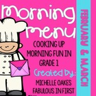 Morning Work: Morning Menu for Feb. and Mar.