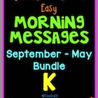 Morning Message: Year Bundle - Kindergarten