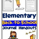 Morning Procedure for Elementary Students (poster)