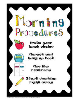 Morning Procedures chart