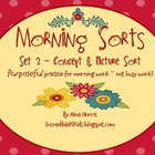 Morning Sorts - Set 2 - Concept Sort