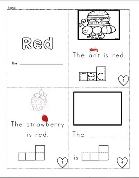 Morning Word Work: Red