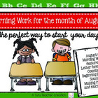 Morning Work Activities for the month of August