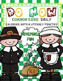 Morning Work Common Core Do Now November