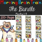Morning Work {Morning Brain Train 5 Months in K - The Bundle}