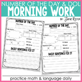 Morning Work: Number of the Day and Daily Fix It {FREEBIE}
