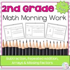 Morning Work: Subtraction, Repeated Addition, Arrays & Mis